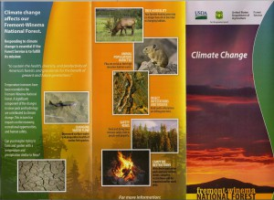 Fremont-Winema National Forest brochure on the effects of climate change on our local forest (1/2). Click to expand.